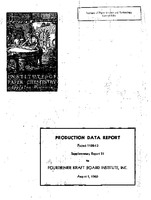 Production data report. Project 1108-13 supplementary report thirty-one to Fourdrinier Kraft Board Institute, Inc.