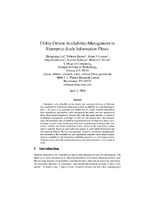 Utility-Driven Availability-Management in Enterprise-Scale Information Flows