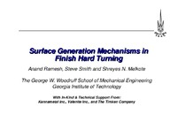 Surface Generation Mechanisms in Finish Hard Turning
