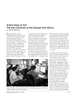 A New Story to Tell: The East Commons at the Georgia Tech Library