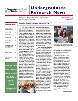 Undergraduate Research News Volume 2, Number 3