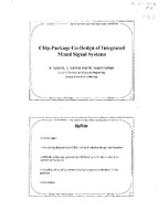 Chip-Package Co-Design Methodology for Integrated RF Microsystems
