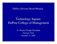 Technology Square: DuPree College of Management