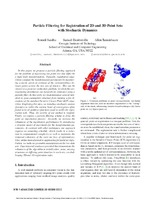 Particle Filtering for Registration of 2D and 3D Point Sets with Stochastic Dynamics