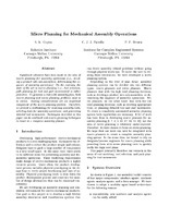 Micro Planning for Mechanical Assembly Operations