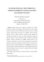 Secondary Innovation: The Experience of Chinese Enterprises in Learning, Innovation and Capability Building