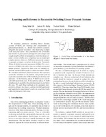 Learning and Inference in Parametric Switching Linear Dynamic Systems