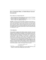 From Empirical Data to Multi-Modal Control Procedures