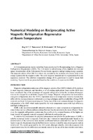 Numerical Modeling on Reciprocating Active Magnetic Refrigeration Regenerator at Room Temperature