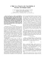 A Tight Lower Bound on the Controllability of Networks with Multiple Leaders