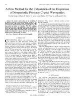 A new method for the calculation of the dispersion of nonperiodic photonic crystal waveguides