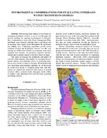 Environmental Considerations for Evaluating Interbasin Water Transfers in Georgia