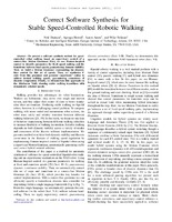 Correct Software Synthesis for Stable Speed-Controlled Robotic Walking