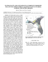 Water Quality and Contaminant Occurrence in Domestic Wells in the Upper Floridan Aquifer in Parts of Florida, Georgia, and South Carolina