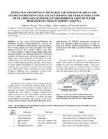 Hydraulic Gradients in Recharge and Discharge Areas and Apparent Ground-Water Age Dates from the Characterization of Multiple Regolith-Fractured Bedrock Ground-Water Research Stations in North Carolina