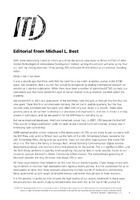 Special Editorial from Michael Best