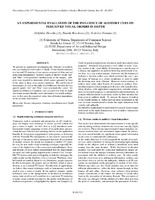An Experimental Evaluation of the Influence of Auditory Cues on Perceived Visual Orders in Depth