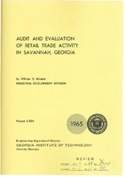 Audit and evaluation of retail trade activity in Savannah, Georgia.