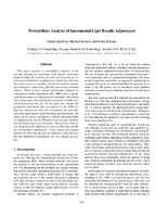Probabilistic Analysis of Incremental Light Bundle Adjustment