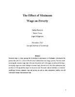 The Effect of Minimum Wage on Poverty