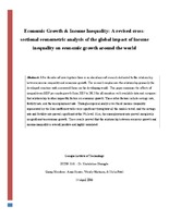 econometrics final paper An insight into the proper use of econometric methods in economic and  on it in  a term paper know how to interpret applied econometric studies and how to.