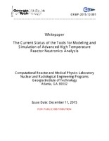 The Current Status of the Tools for Modeling and Simulation of Advanced High Temperature Reactor Neutronics Analysis