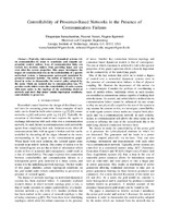 Controllability of Prosumer-Based Networks in the Presence of Communication Failures