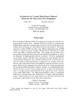 Evaluation of Causal Distributed Shared Memory for Data-race-free Programs