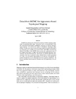 Data Driven MCMC for Appearance-based Topological Mapping